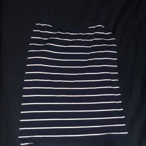 navy and white striped tank!!